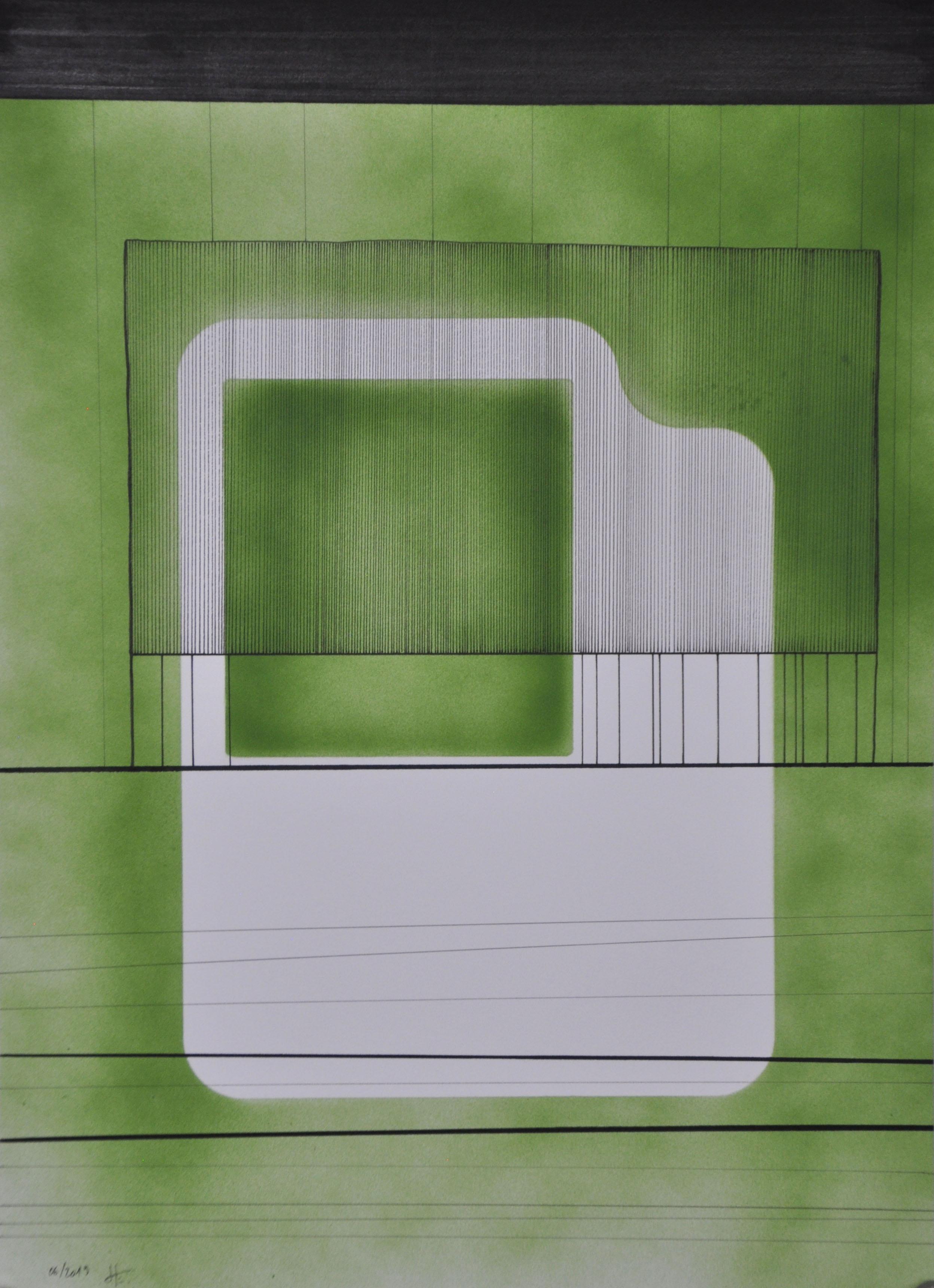 Encre et acrylique sur papier, 30x40, Er