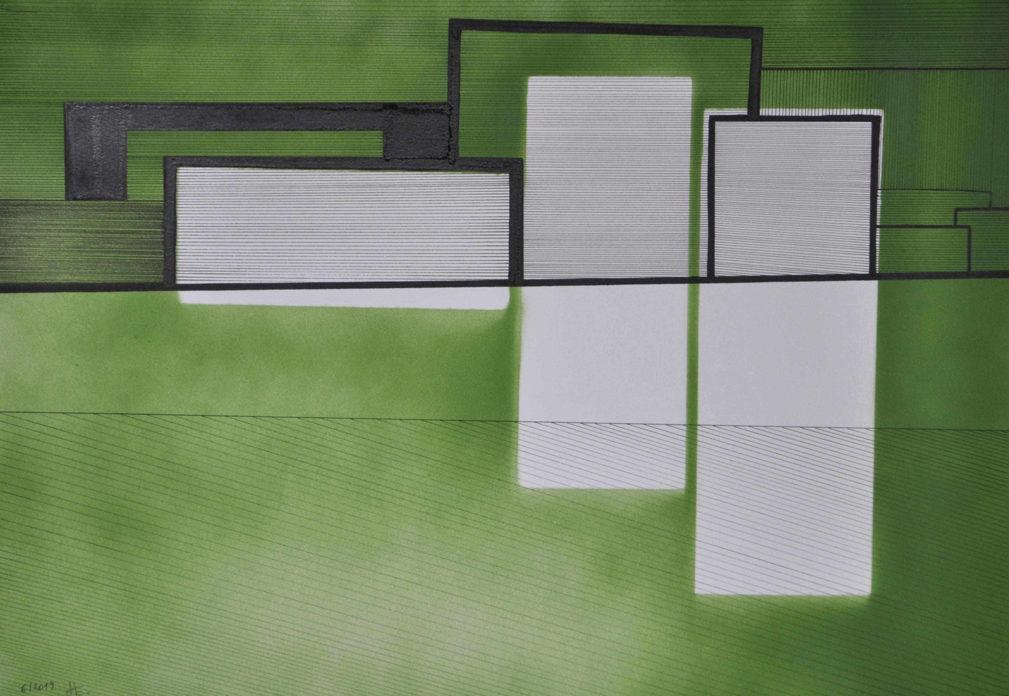 Encre et acrylique sur papier 26, 40x30,