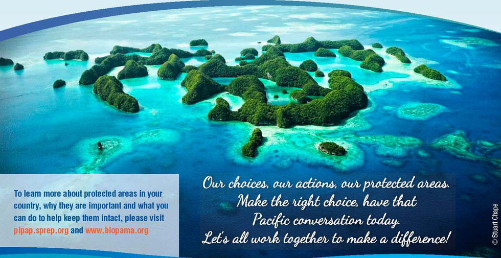 Pacific protected areas - protecting our natural heritage for future generations