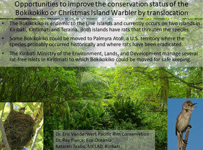 Opportunities to improve the conservation status of the Bokikokiko or Christmas Island Warbler by translocation
