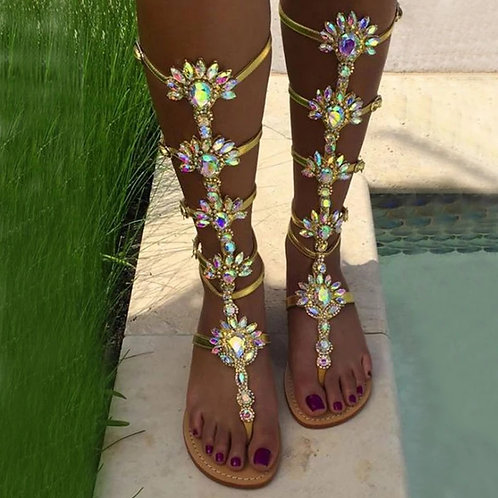 Buckle Up, Butter Cup Gemstone Gypsy Soles