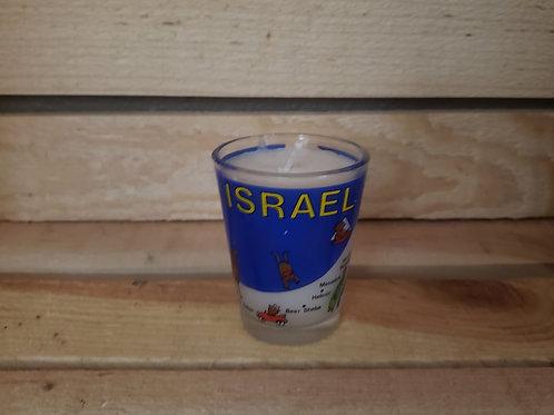 Israel Shot Glass Votive