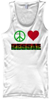 peace love reggae tank