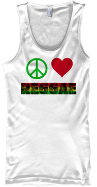peace love reggae tank