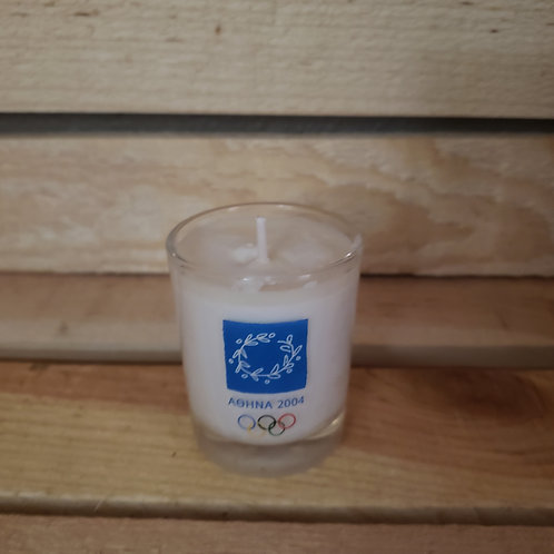2004 Greek Olympics Shot Glass Votive
