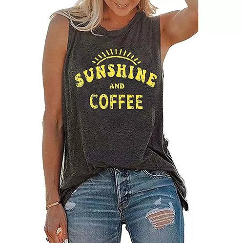 Sunshine & Coffee Sleeveless Tee