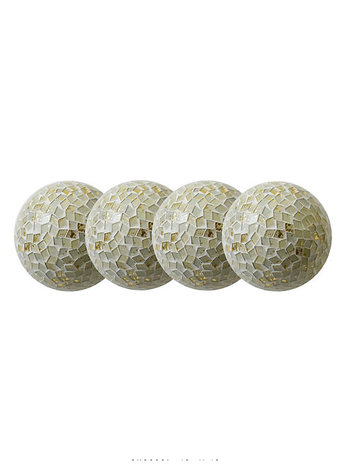 Gold Flakes Decorative Orb