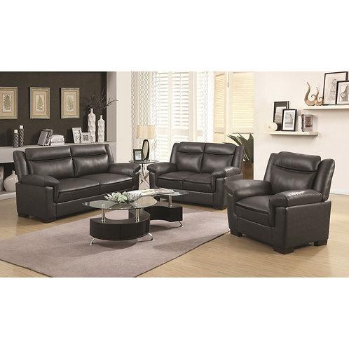 Arabella Contemporary Leatherette Sofa/Loveseat