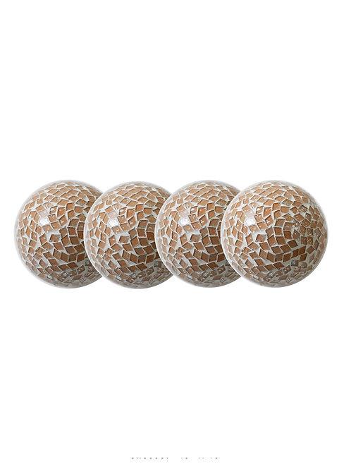 Tan Silver Decorative Orb
