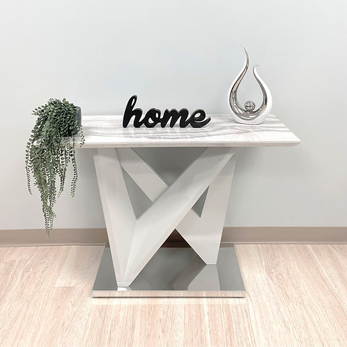 Marble-Top Console Table