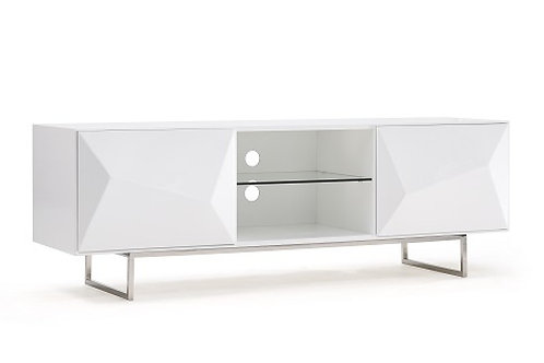 #014 Modrest Vanguard Modern White TV Stand