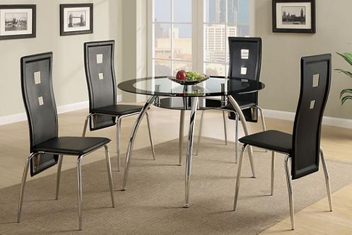 #002 DELPHY BLACK DINING ROOM SET
