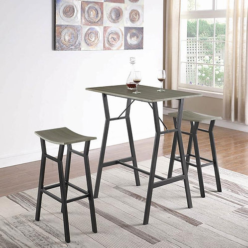 INDUSTRIAL COUNTER HEIGHT TABLE-2 BAR SET