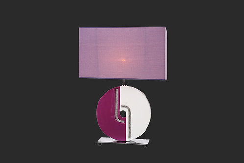 White and purple lamp