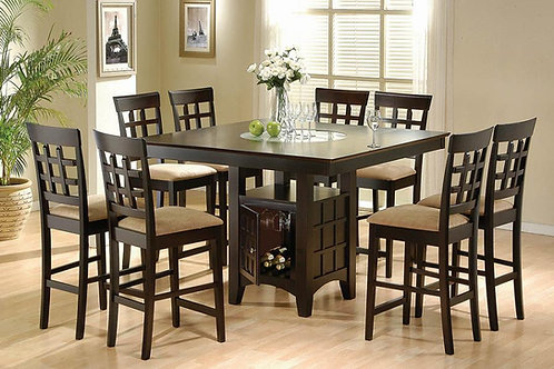 #002 GABRIEL COLLECTION TABLE + 8 CHAIRS