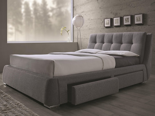 #023 FENBROOK QUEEN UPHOLSTERED BED WITH STORAGES DRAWERS