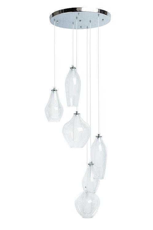 Modern Gladd Duo Tone- 6 Light LED Chandelier