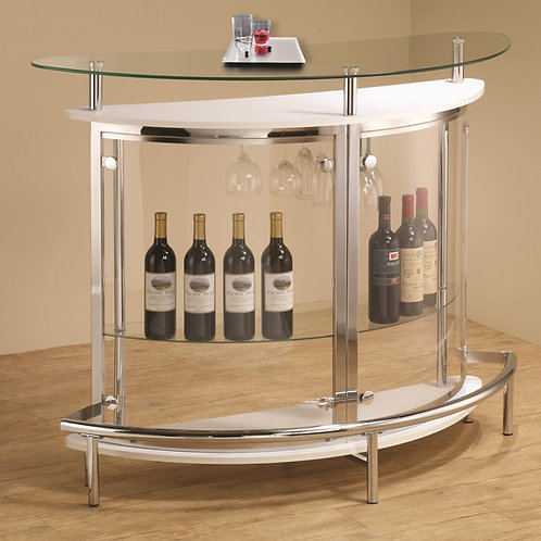 #002 Bar Unit with Smoked Acrylic Front White or Black