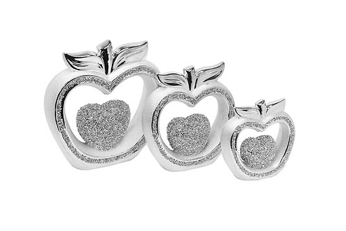 SILVER OR GOLD APPLE SET
