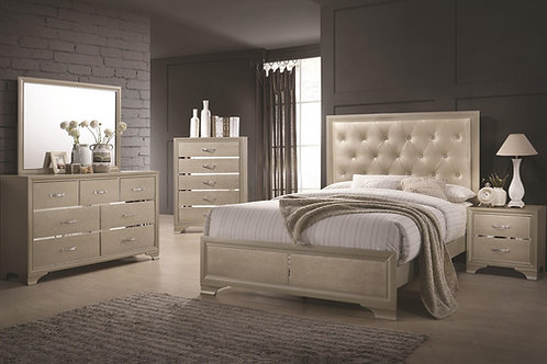 Beaumont Upholstered Queen Bed with Button Tufting