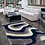Thumbnail: #013 ABSTRACT CARPET IN THREE COLORS- BLUE, WHITE & GRAY