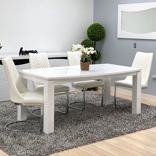 #031 Expandable Dining Table White