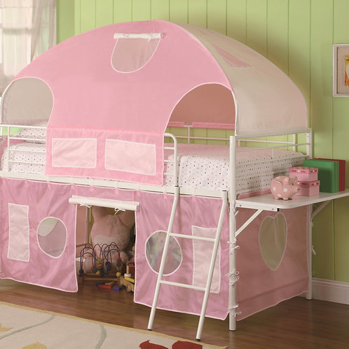 #004 SWEETHEART TEEN LOFT BED PINK