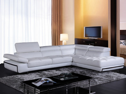 #031 Myst Leather Sectional Sofa