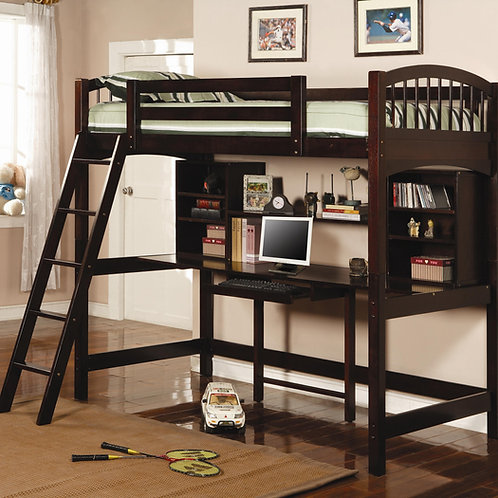 #003 PERRIS TWIN WORKSTATION LOFT BED