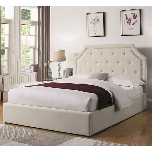 Hermosa Queen Upholstered Bed with Hydraulic Lift Storage