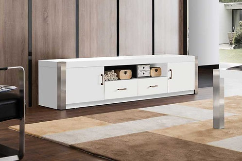 TV stand in white lacquer