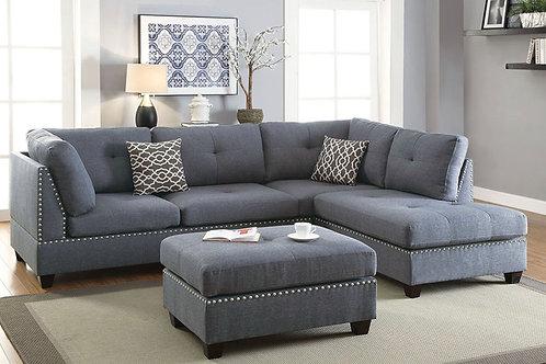 #029 3-Pcs Sectional Sofa