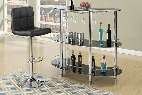 BAR TABLE - GLASS BLACK OR WHITE