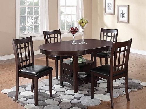 #021 LAVON DINING SET TABLE - 4 CHAIRS