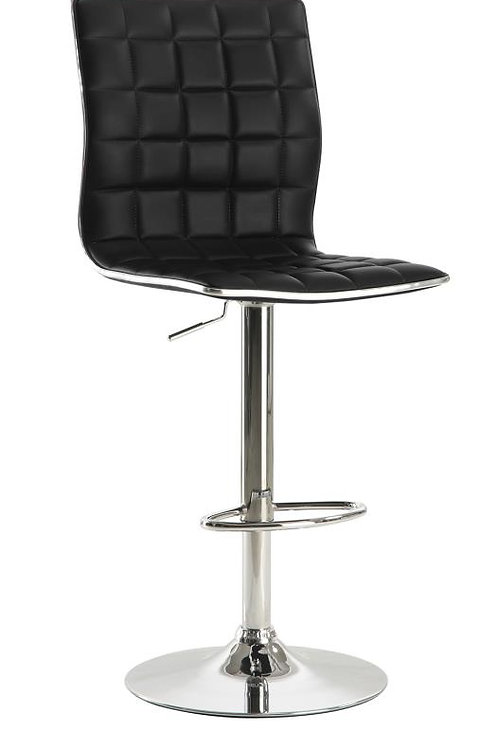 #008 Bar Stools Black And Chrome