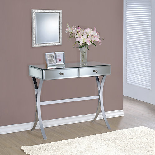 #026 2-DRAWER CONSOLE TABLE CLEAR & MIRROR
