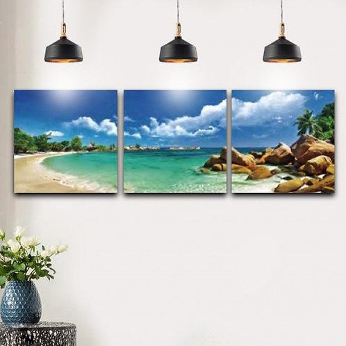 #061 ABC CARIBBEAN BLUE ART 3 PCS