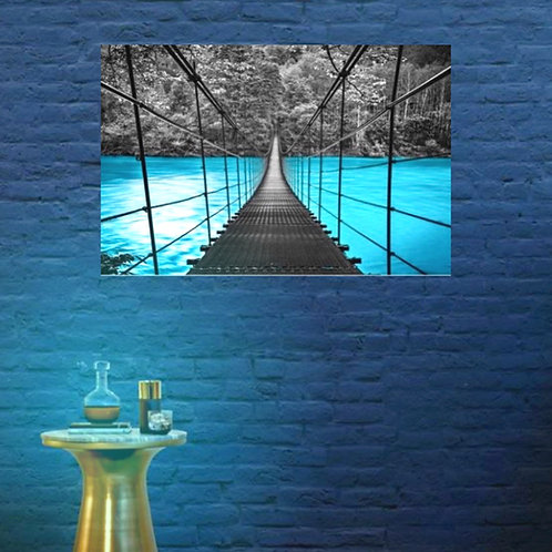 #052 BLUE WATER BRIDGE GLASS