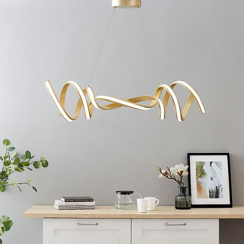 #029 HAMBURG LED HORIZONTAL CHANDELIER GOLD
