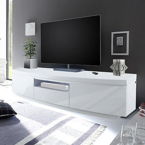 #031 TV STAND WHITE & LED LIGHT
