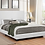 Thumbnail: #009 MUAVE QUEEN UPHOLSTERED BED WHITE