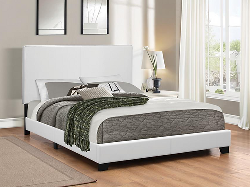 #009 MUAVE QUEEN UPHOLSTERED BED WHITE