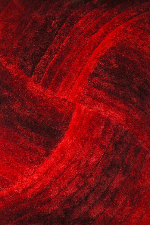 #001 HYPNOTIC AREA RUG RED