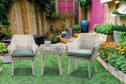 Tashay 3Pc Patio Bistro Set