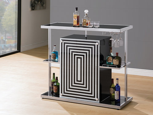 Contemporary Bar with Wine Glass Storage