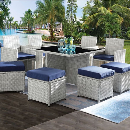#003 PAITALYI 9PCS PATIO SET BLUE