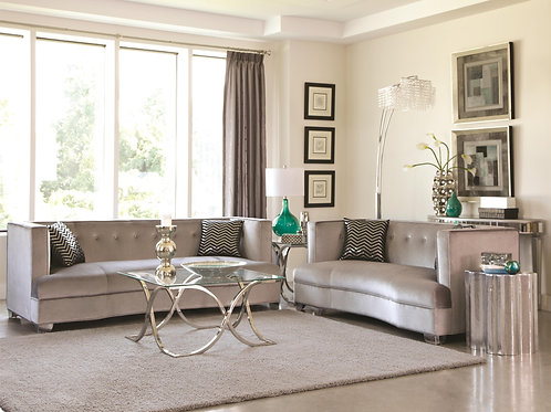 Caldwell Sofa/ Loveseat with Contemporary Style