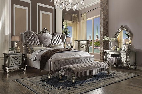 #029 VERSAILLES SILVER KING BED