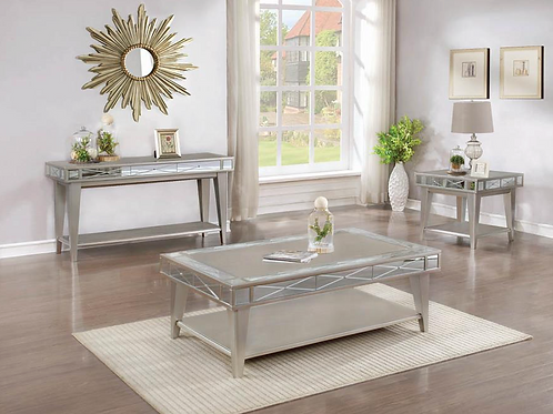 Bling Mirrored Coffee Table Set
