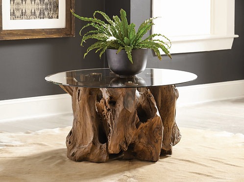 COFFEE TABLE BASE NATURAL LIGHT BROWN